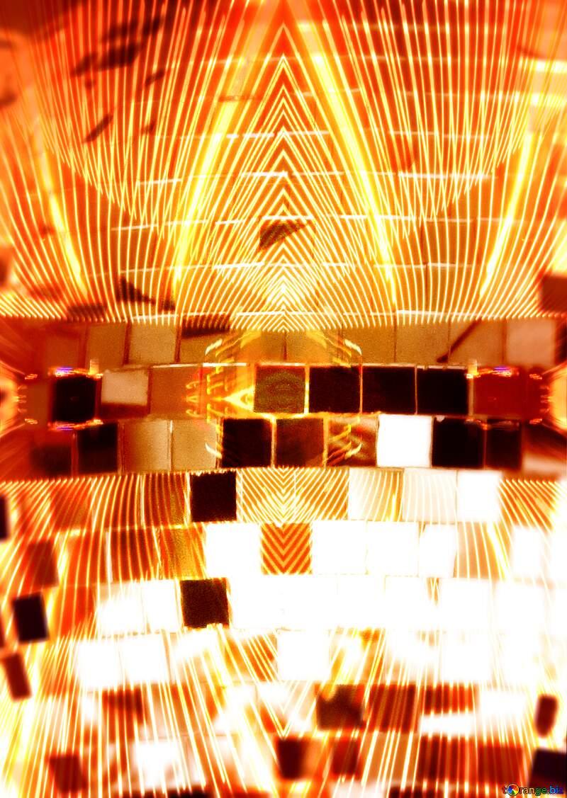 Disco ball art template №53395