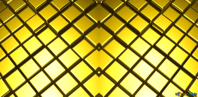 3d abstract gold metal cube background Light Pattern Texture №54498