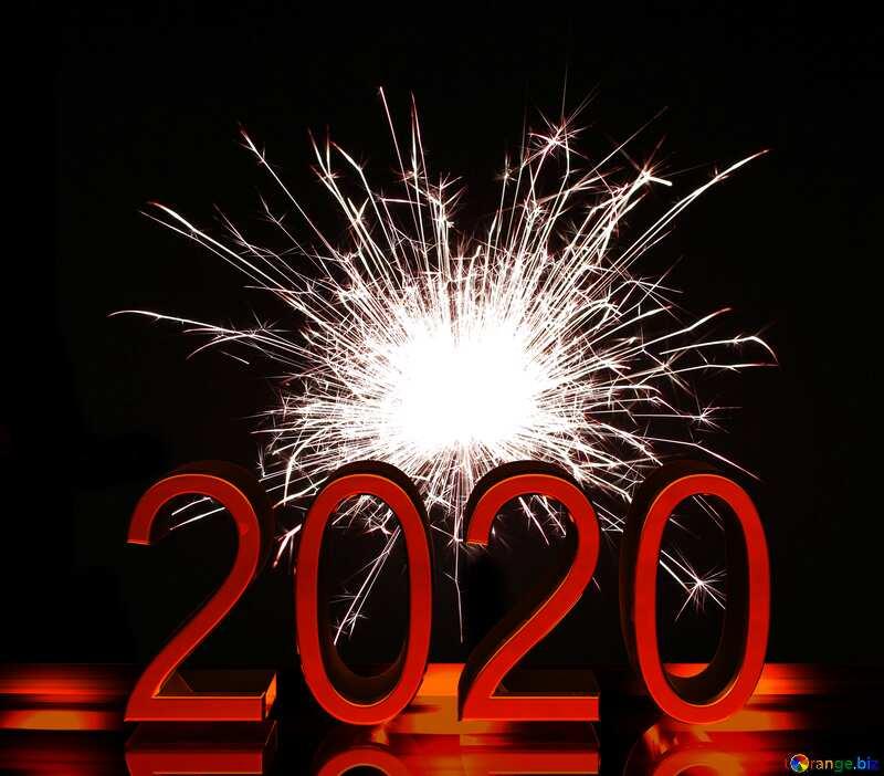 Bright sparks 2020 red dark background №25682