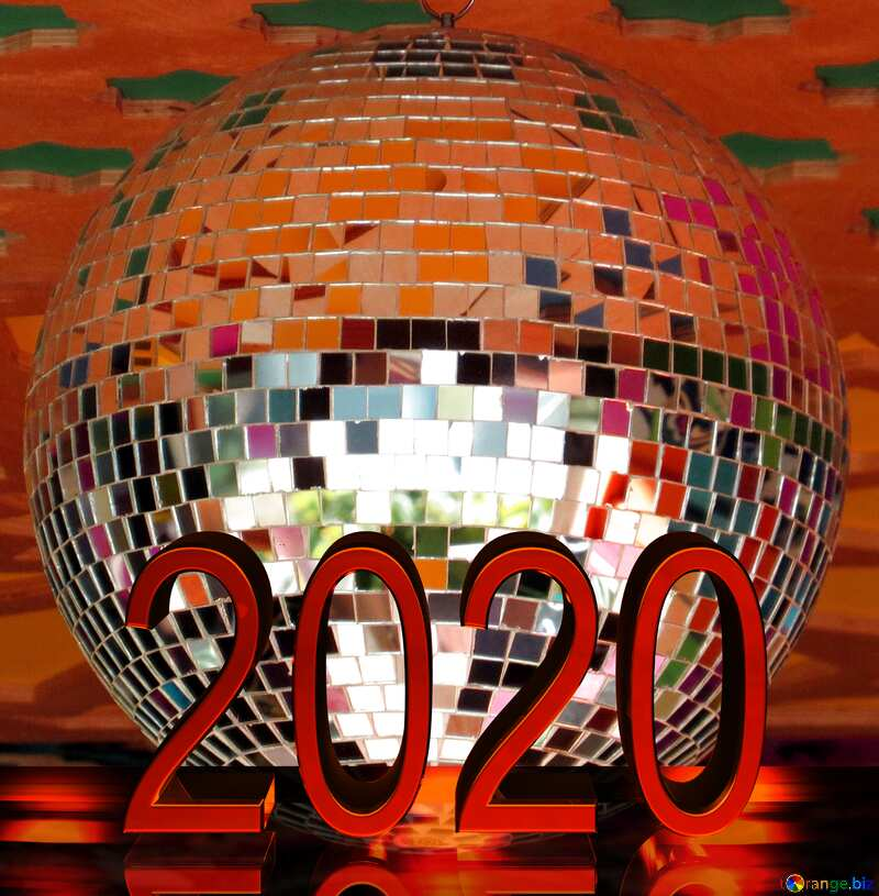 Disco ball lamp 2020 red №53395