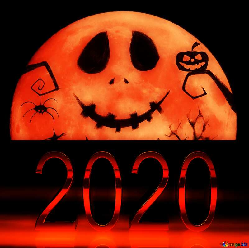 Halloween red moon  picture 2020 №40468