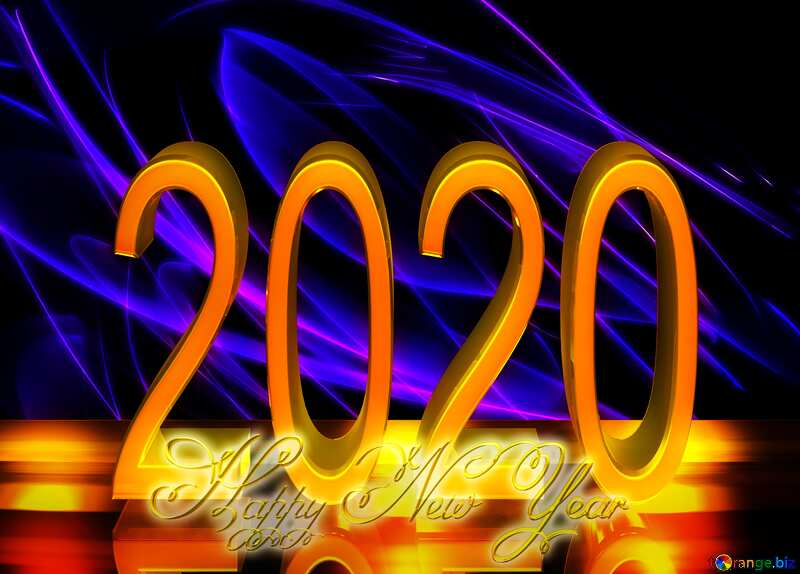 Very beautiful background 2020 happy new year №40620