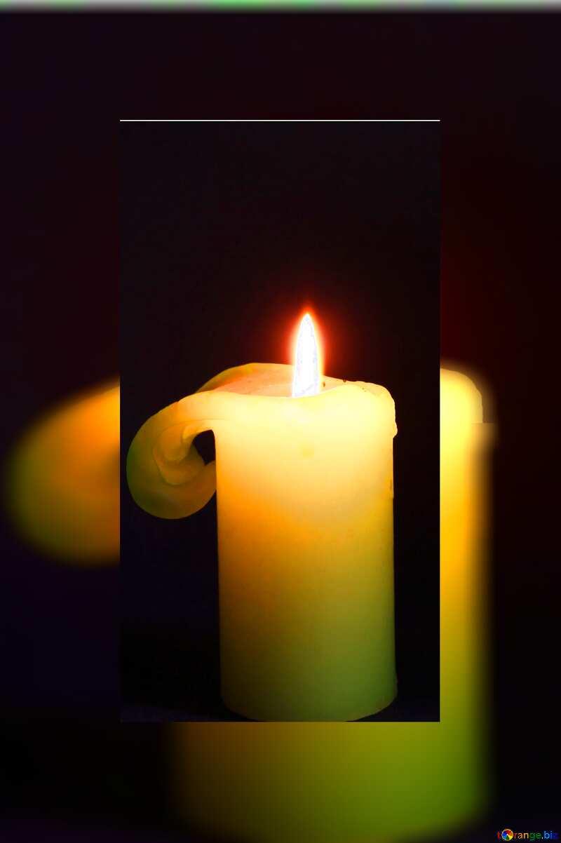 Burning candle fuzzy border №2390