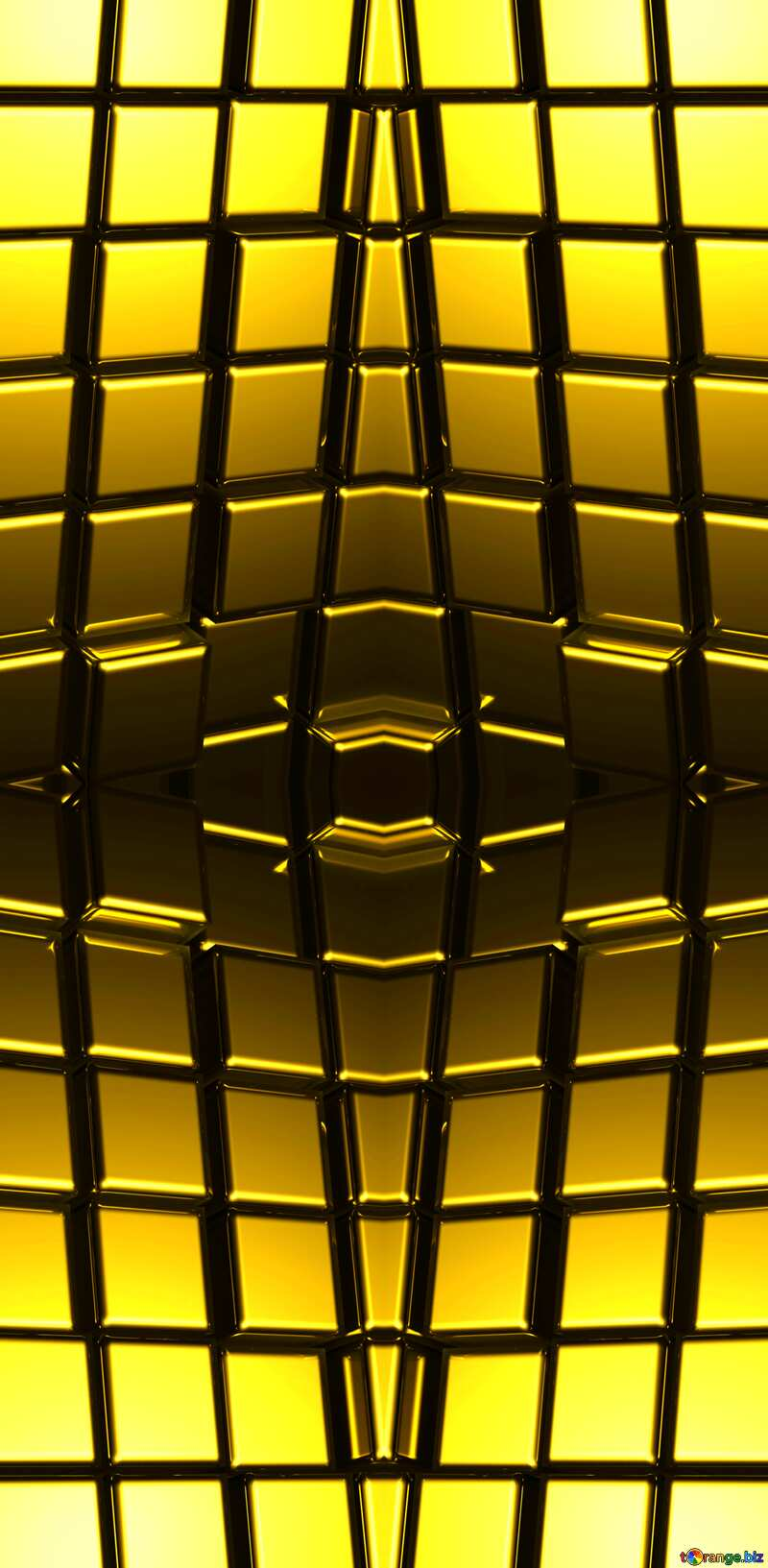 3d abstract gold metal cube background Mechanic Techno Pattern №54498