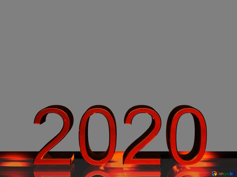 2020 3d render red metal digits with reflections opacity dark background isolated №54493