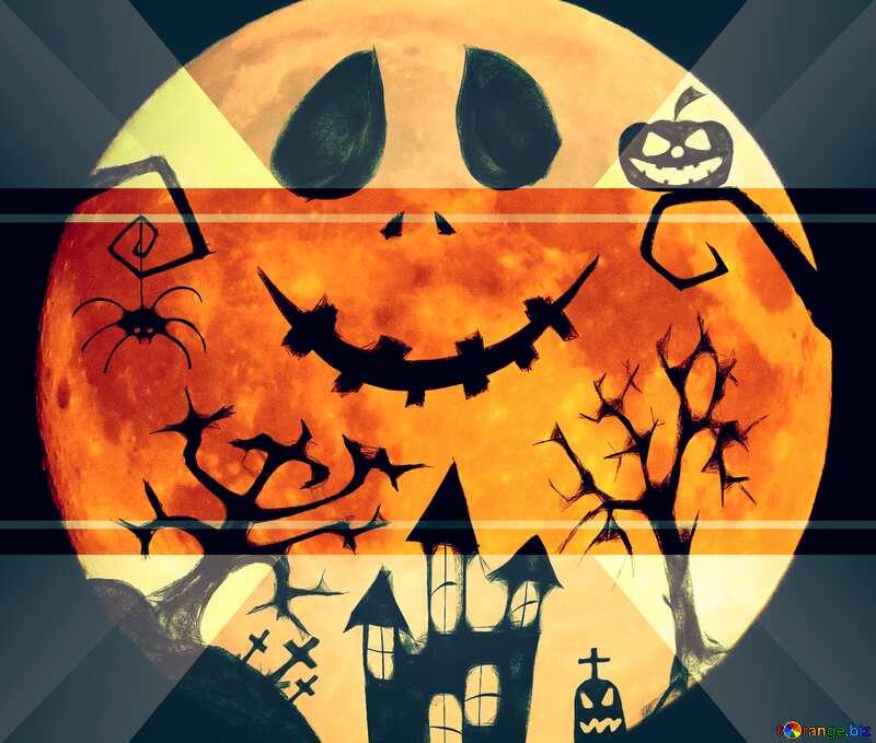 Halloween illustration template frame №40468
