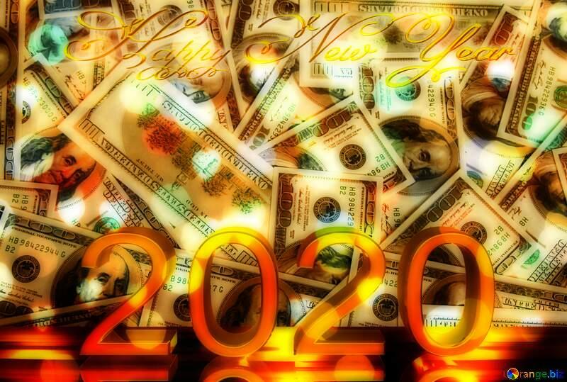 Dollars bokeh lights background 2020 №1506