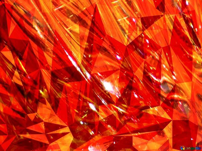 Glass hot polygonal background №18044