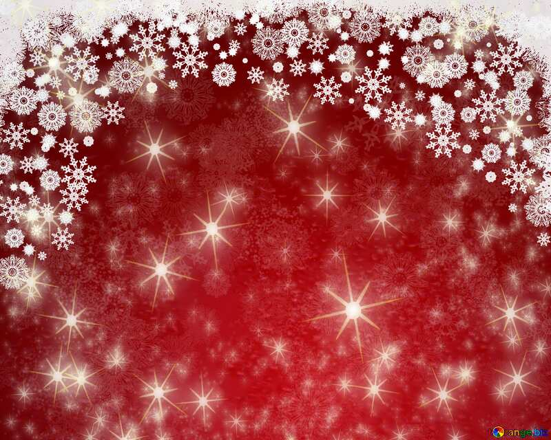 Red Christmas background  Twinkling Stars Holiday Card №40659