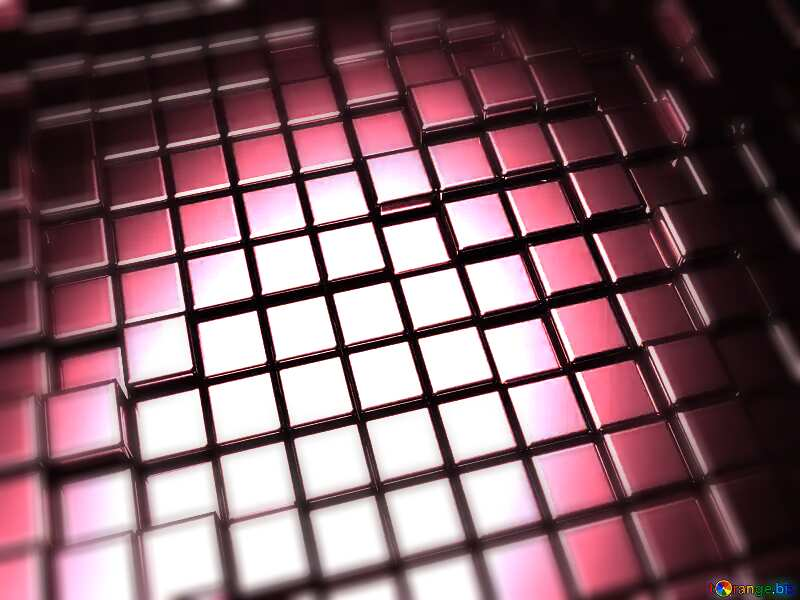 3d abstract metal cube background Red Pink Purple №54498