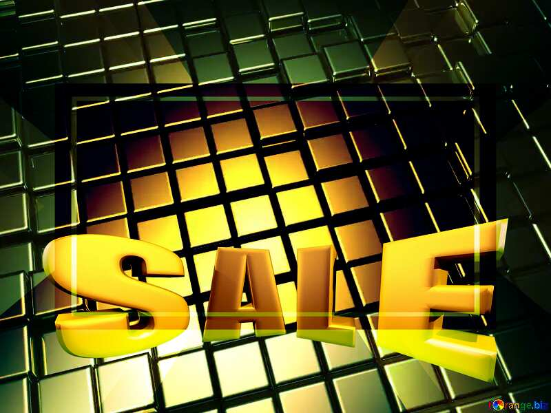 3d abstract gold metal cube background Design Sale Sales Promotion Template №54498