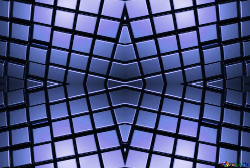 3d abstract blue metal cube background Technology Shape Rendering Pattern Mechanic №54498