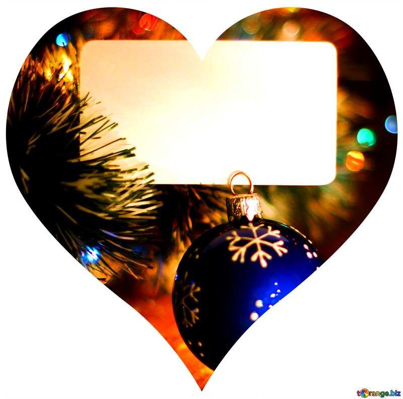 Christmas  invitation love heart shaped №37840