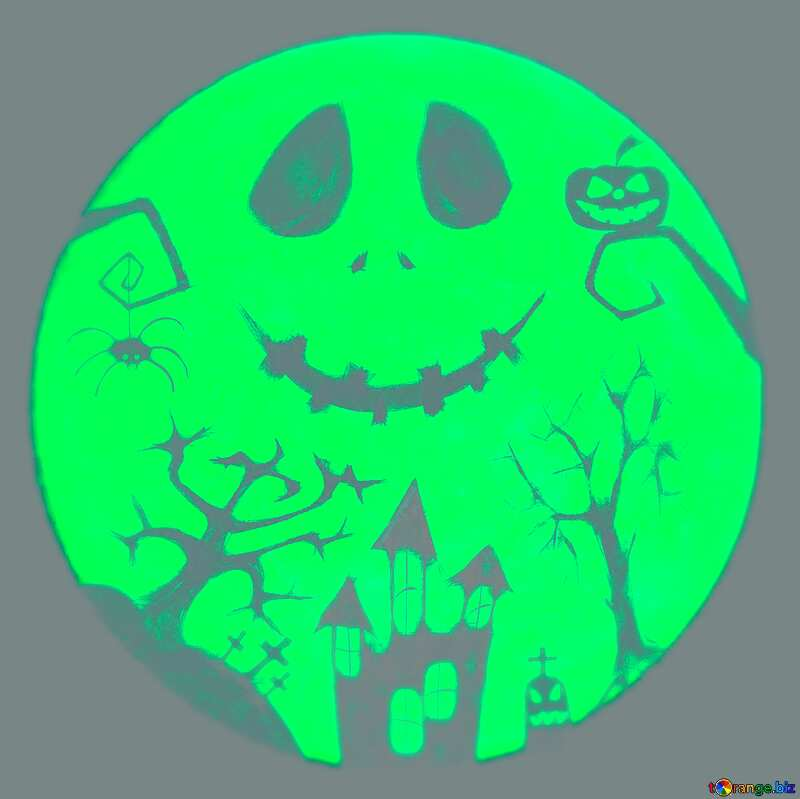 Halloween picture moon  blur №40468