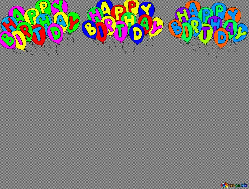 Happy birthday. Lettering cartoon background №52353