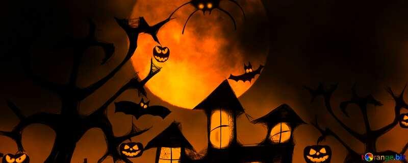 Halloween wallpaper for desktop fragment №40470