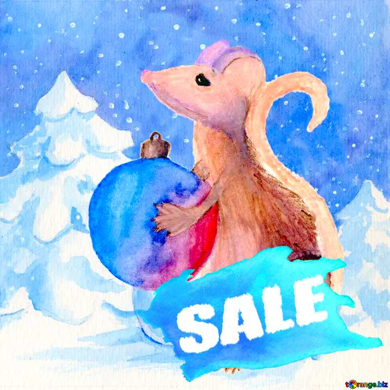 2020 Winter sale year of the rat  background №54497