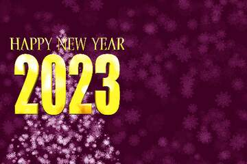 The effect of the mirror. The effect of the hard dark. The effect of stained blue. Happy New Year 2020.