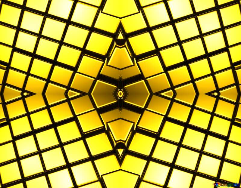 3d abstract gold metal cube background Beautiful Pattern №54498