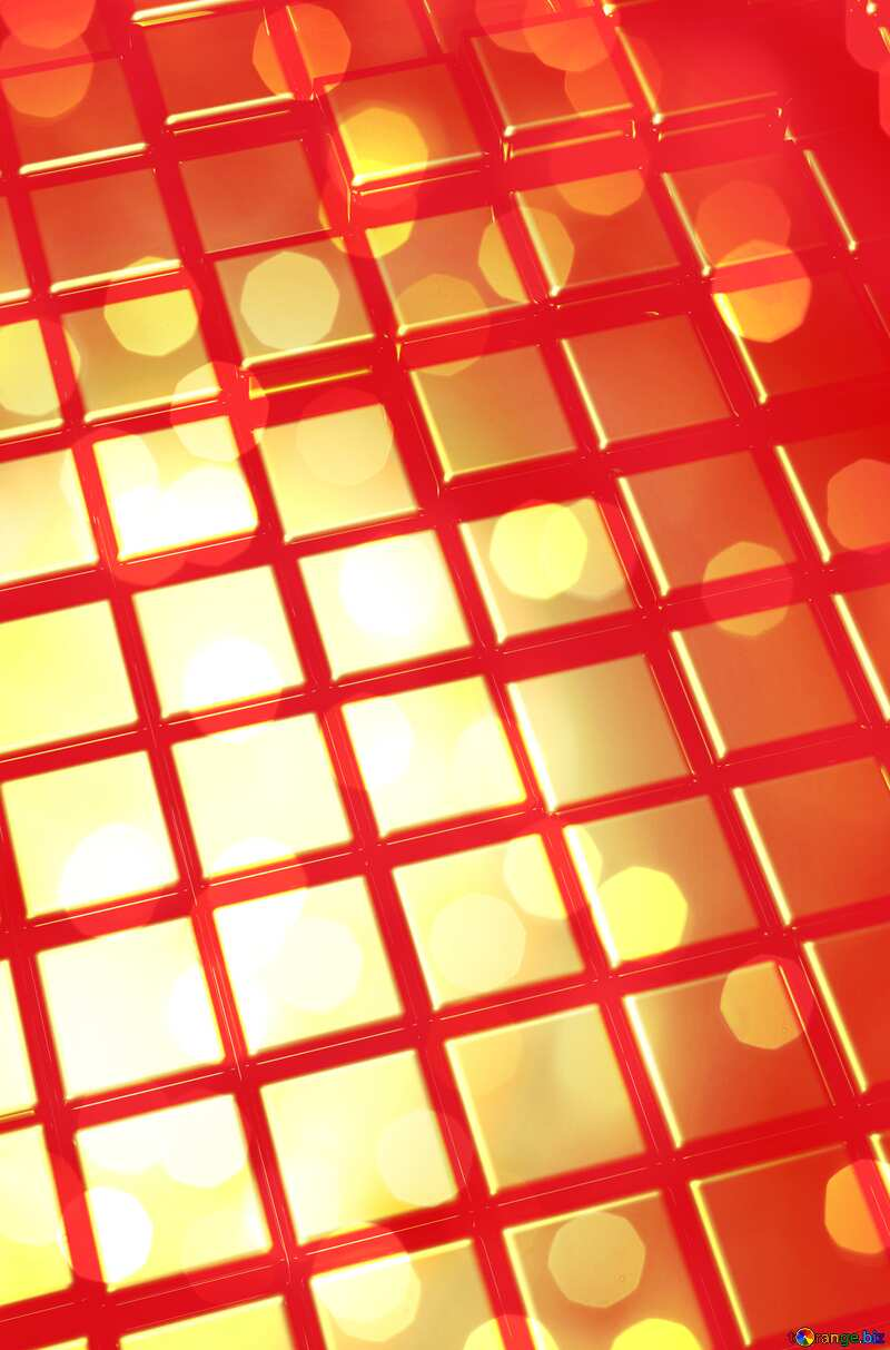 3d abstract red metal cube background Bright Card №54498
