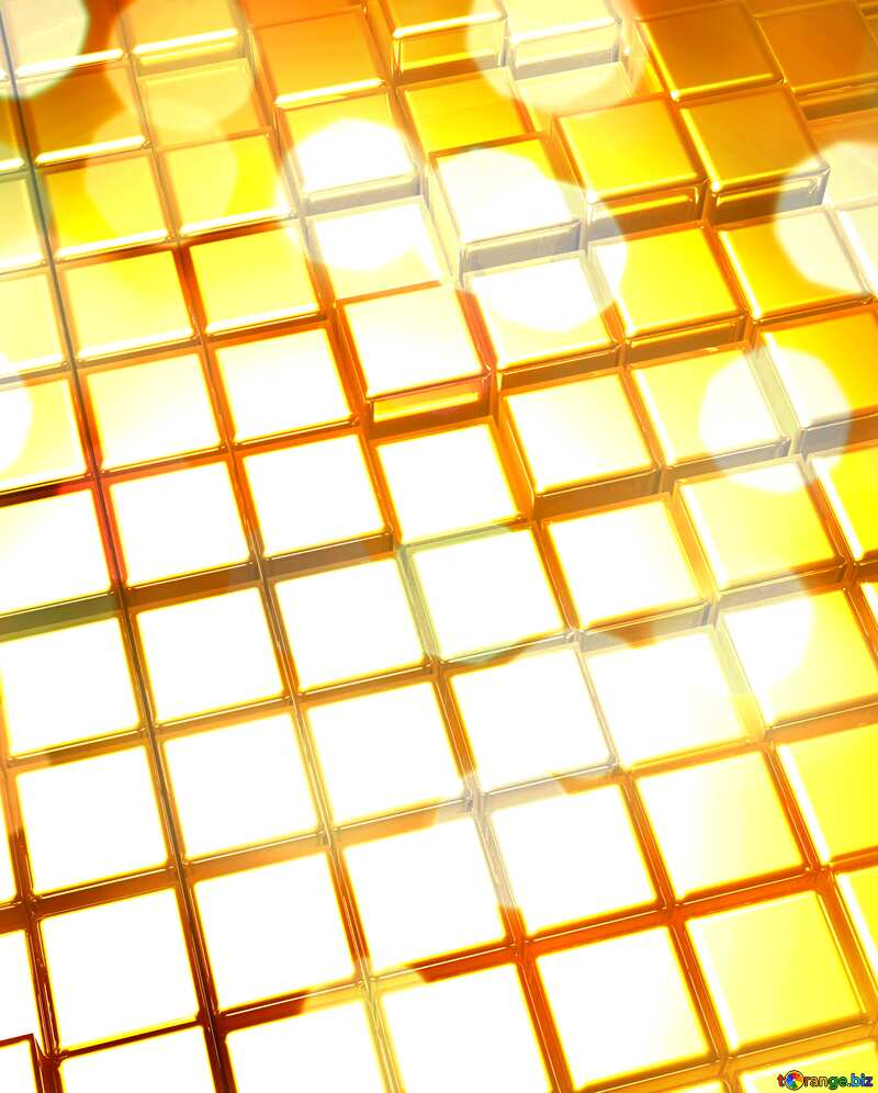 3d abstract gold metal cube background Light Illustration №54498