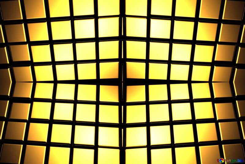 3d abstract gold metal cube background pattern №54498