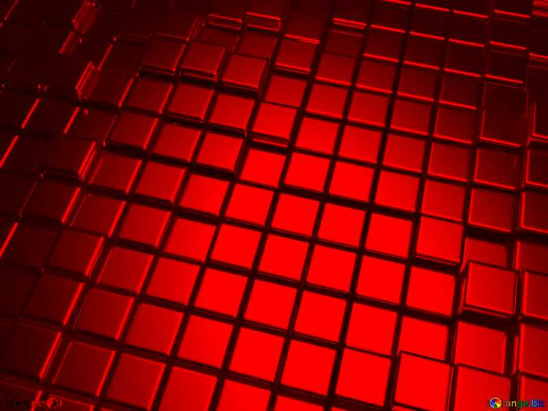 3d abstract red metal cube background Texture Wall №54498