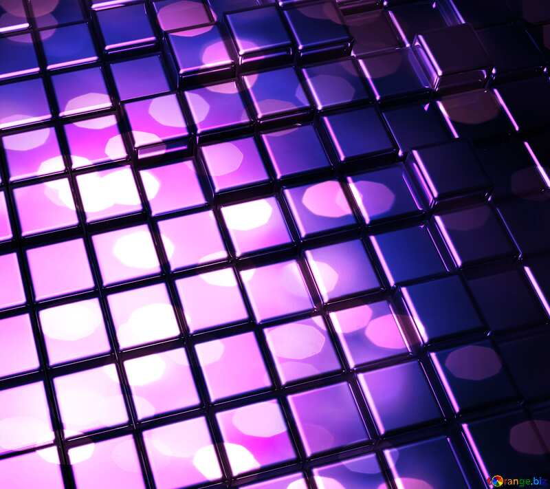 3d abstract metal cube background Violet №54498