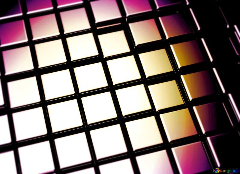 3d abstract metal cube background Beautiful Blur Card №54498