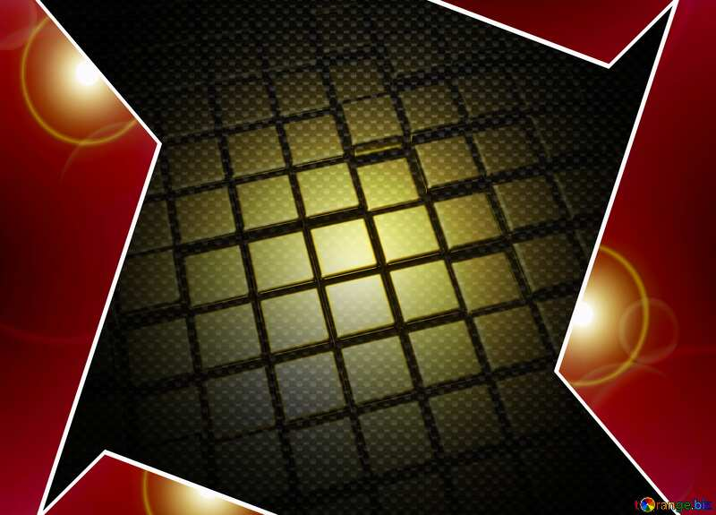3d abstract gold metal cube background Carbon Hi-tech Tech Template №54498