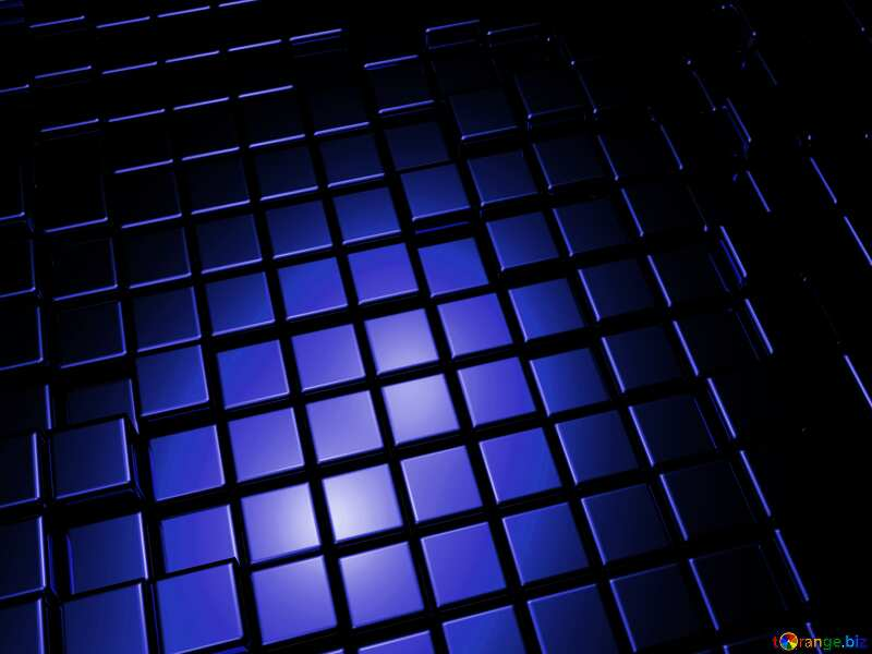 3d abstract dark blue metal cube background №54498