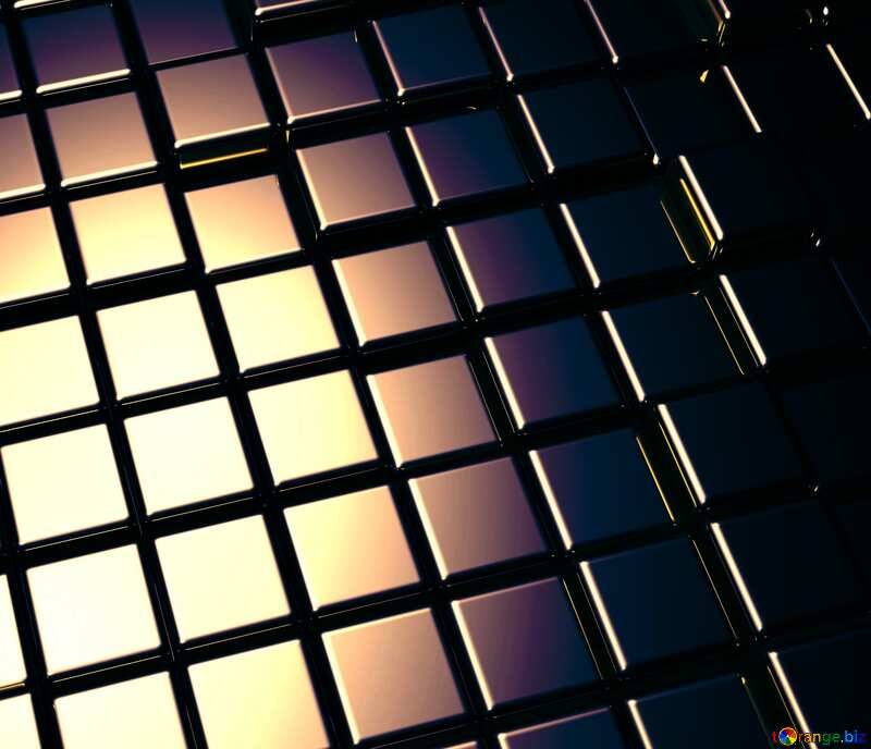 3d abstract dark metal cube background №54498
