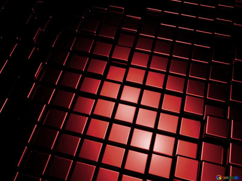 3d abstract dark red metal cube background №54498