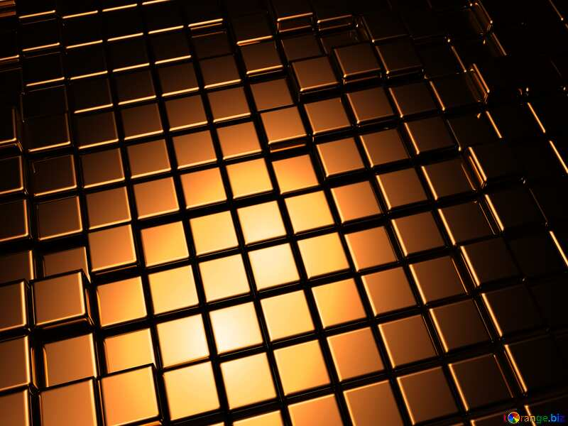 3d abstract gold metal cube background Dark Red Stained №54498