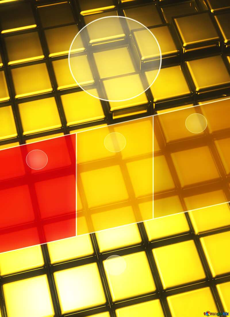 3d abstract gold metal cube background A4 Brochure Business Design Hot Layout Template №54498