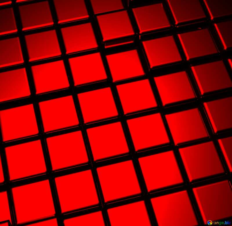 3d abstract metal cube background Fragment Red №54498
