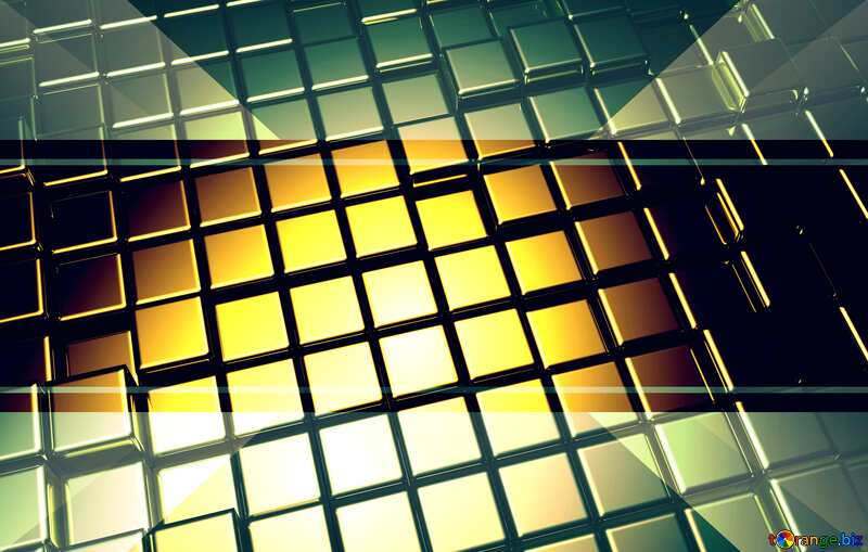 3d abstract metal cube background Graphic Frame Illustration Invitation Template №54498