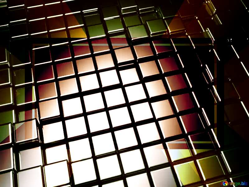 3d abstract metal cube background Design Futuristic Business Brochure Template №54498