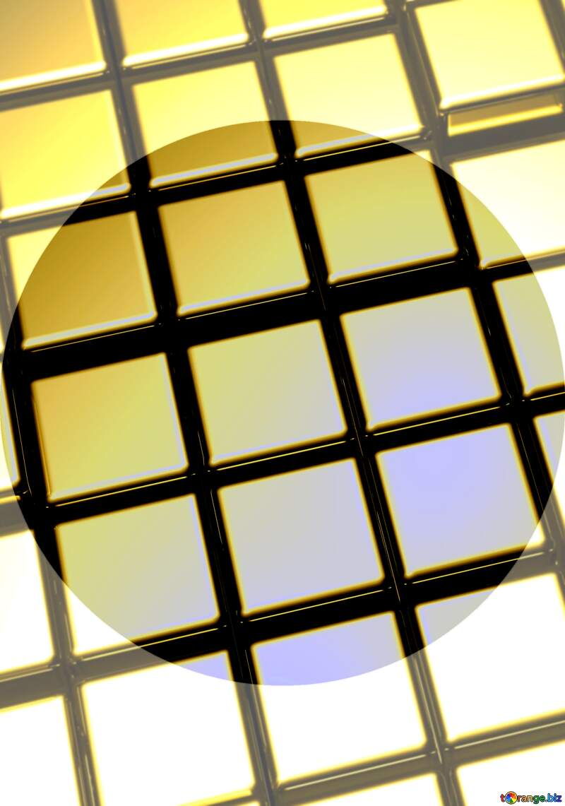 3d abstract gold metal cube background Futuristic Template Shape №54498