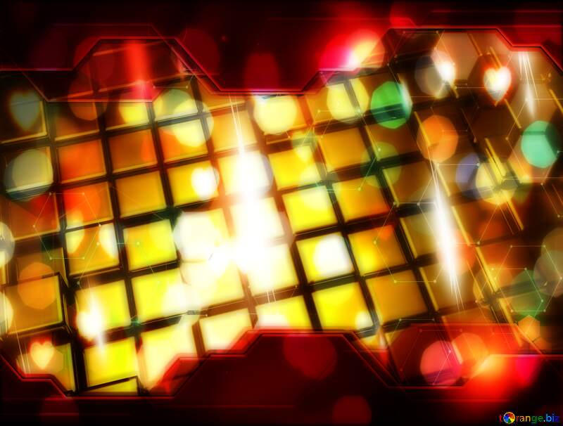 3d abstract gold metal cube background Art Hi-tech Elements Technology Concept №54498