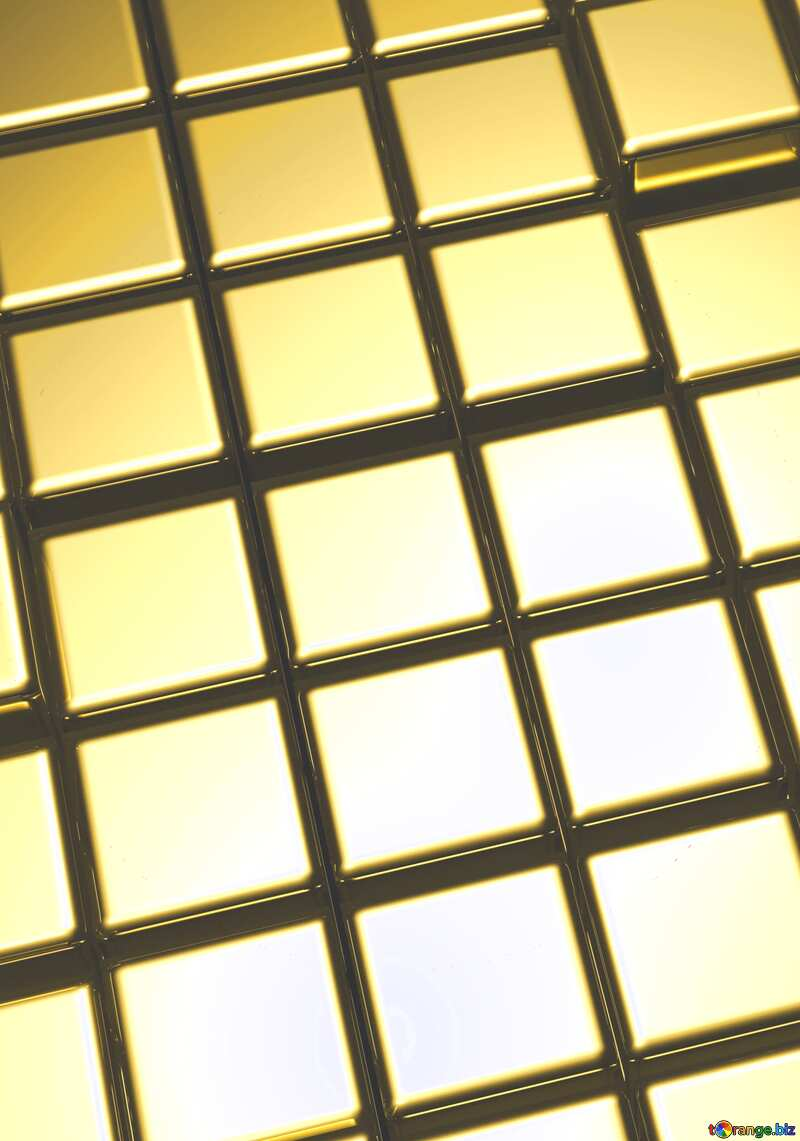 3d abstract gold metal cube background Infographic Red Template №54498