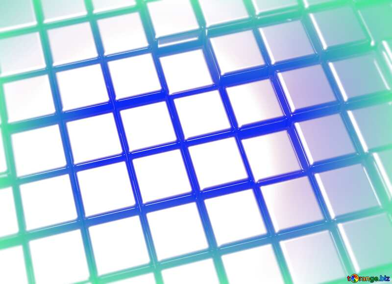 3d abstract metal cube background Light Technology Illustration №54498