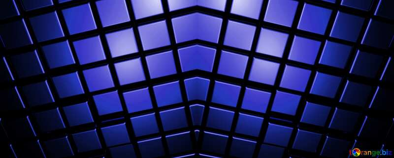 3d abstract dark blue pattern metal cube background №54498