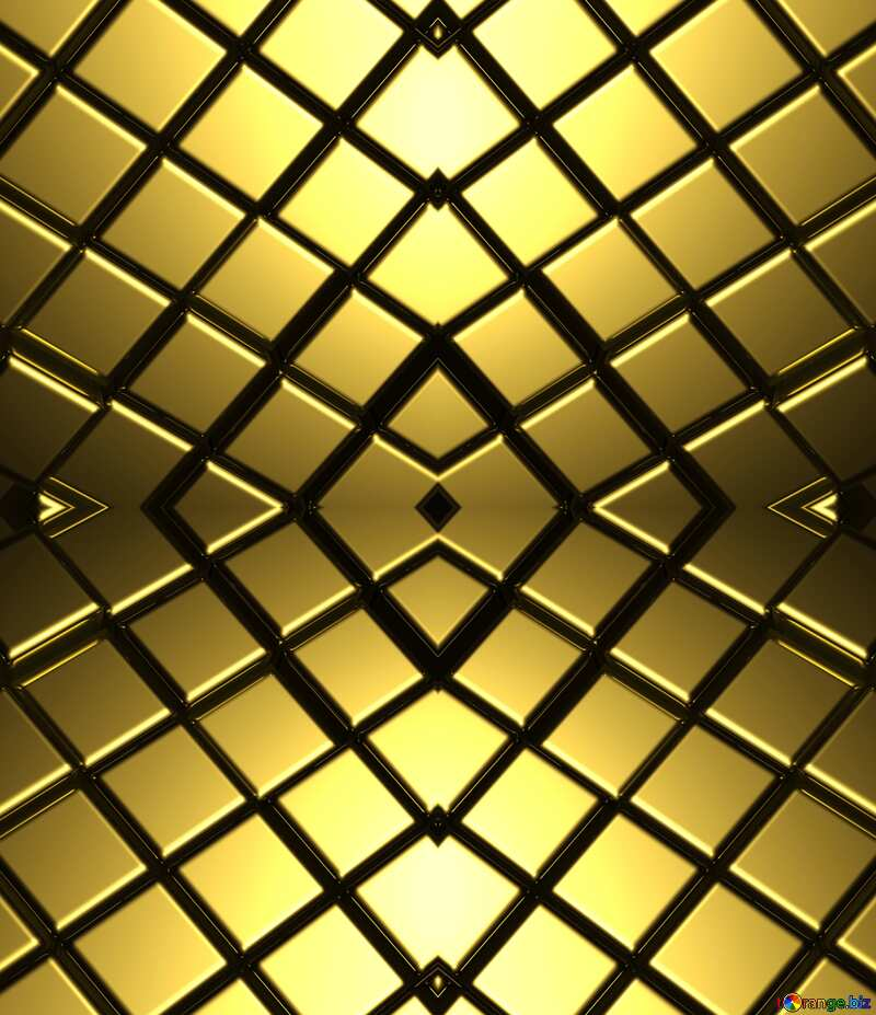3d abstract gold metal cube background Pattern Texture Futuristic Computer №54498