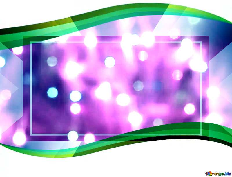Bright background for Christmas green ribbon frame №24606