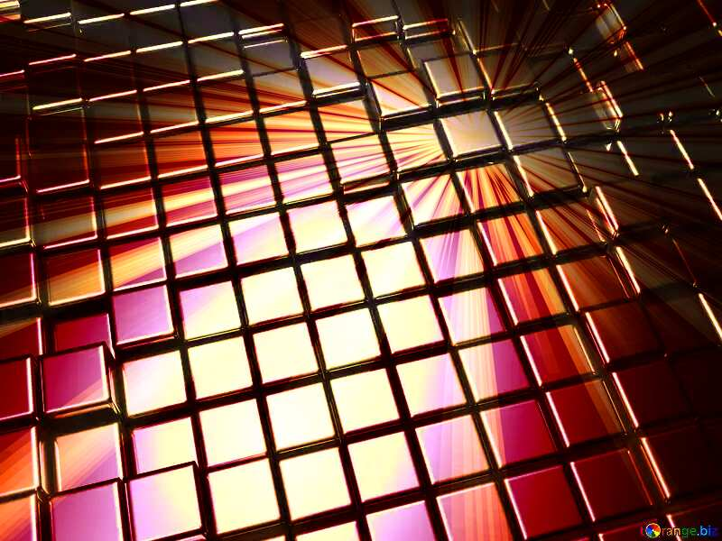 3d abstract metal cube background Render Rays №54498