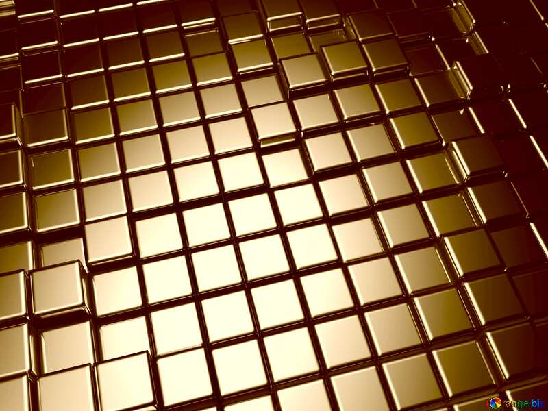 3d abstract metal cube background Texture Sepia №54498