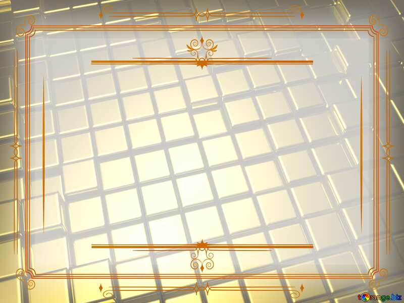 3d abstract gold metal cube background Vintage Retro Template Art №54498