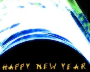 Die Wirkung von Licht. Bruchstück. Card with text Happy New Year.