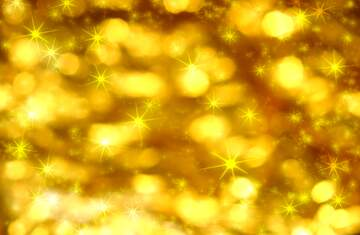 Golden Christmas twinkling stars background